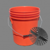 16L Heavy Duty Car Wash Bucket With Grit Shield